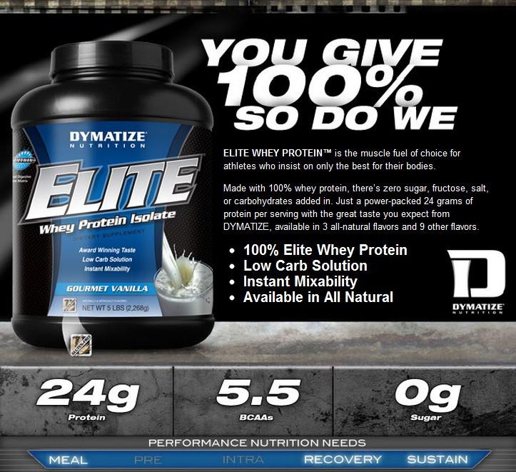 Dymatize Elite Whey Protein 93 g, купить Диматайз Элит