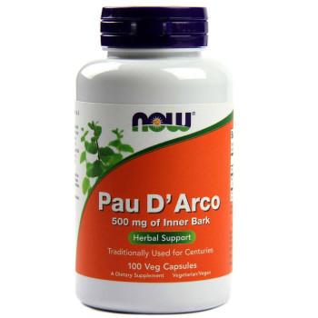 NOW Pau D'Arco 500 мг 250 капсул (Кора муравьиного дерева)