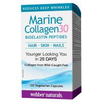 Webber Naturals Collagen30 Marine 120 капсул (пептиды 100% морского коллагена)