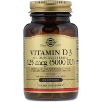Solgar Vitamin D-3 5000 IU 100 softgels