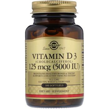 Solgar Vitamin D-3 5000 IU 100 softgels