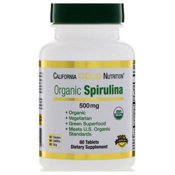 California Gold Nutrition Spirulina 500 mg 60 таблеток