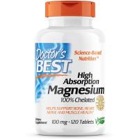 Doctor's Best 100% Chelated Magnesium 120 таблеток (Хелатный магний)