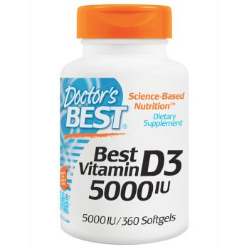 Doctor's Best Best Vitamin D-3 5000 IU 180 Softgels