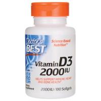Doctor's Best Best Vitamin D-3 2000 IU 180 Softgels