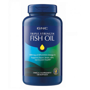 GNC Triple Strength Fish Oil 120 капсул