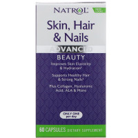 Natrol Skin Hair Nails 60 капсул