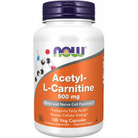 Now Acetyl-L-Carnitine 500 mg 100 капсул