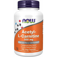 NOW Acetyl-L-Carnitine 500 mg 200 капсул