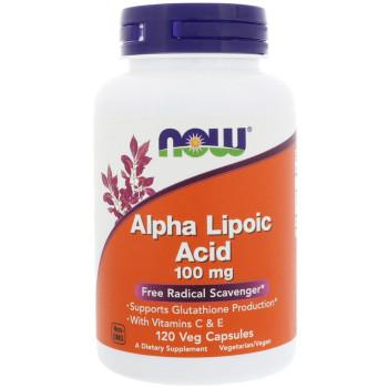 Now Alpha Lipoic Acid 100 mg 120 капсул