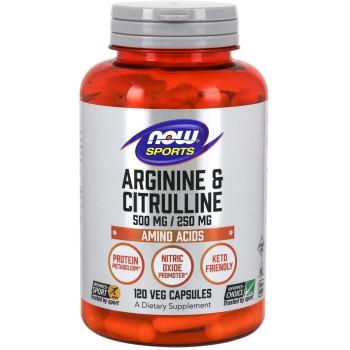 Now Arginine & Citrulline 120 капсул