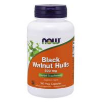 NOW Black Walnut Hulls 500 мг 100 капсул (Скорлупа черного ореха)