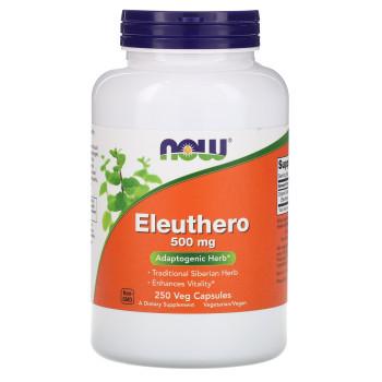 NOW Eleuthero 500 mg 250 veg капсул (Элеутерококк)