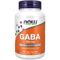 Now GABA 750 mg 100 капсул