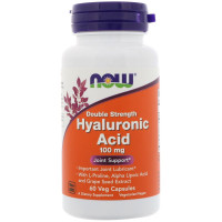 Now Hyaluronic Acid 100 mg 60 капсул