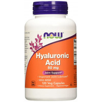 NOW Hyaluronic Acid 50 mg with MSM 120 капсул