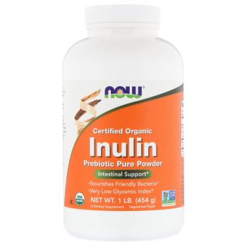 NOW Inuline Powder 454 грамм - Пребиотическая добавка для кишечника