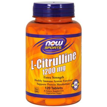Now L-Citrulline 1200 mg 120 таблеток (Цитруллин)