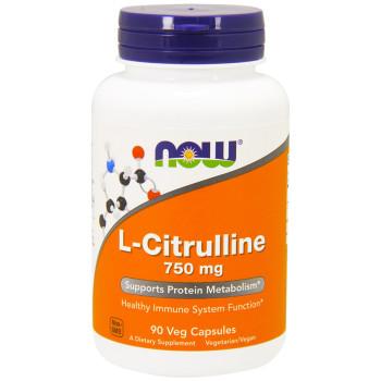 Now L-Citrulline 750 mg 90 капсул (Цитруллин)