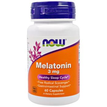 Now Melatonin 3 mg 60 капсул