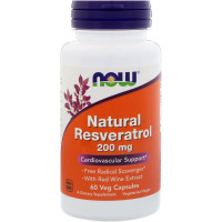 Now Natural Resveratrol 200 mg 60 капсул