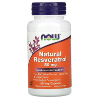 Now Natural Resveratrol 50 mg 60 капсул