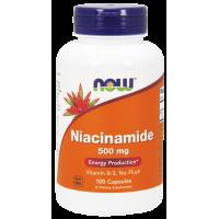 Now Niacinamide 500 mg 100 капсул