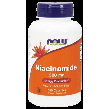 Now Niacinamide 500 mg 100 капсул (Витамин B-3)