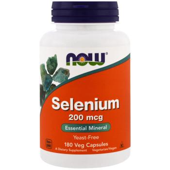 Now Selenium 200 mcg 180 капсул (селен)