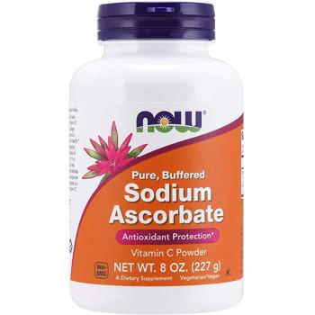 NOW Sodium Ascorbate Pure Buffered 227 грамм