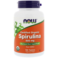 Now Spirulina 500 mg 180 таблеток