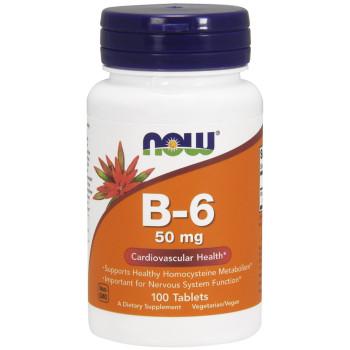 Now В-6 50 mg 100 таблеток (пиридоксин)
