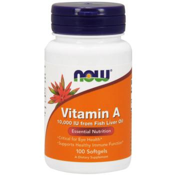 NOW Vitamin A 10,000 IU 100 Softgels