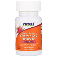 Now Vitamin D-3 10,000 IU 120 капсул
