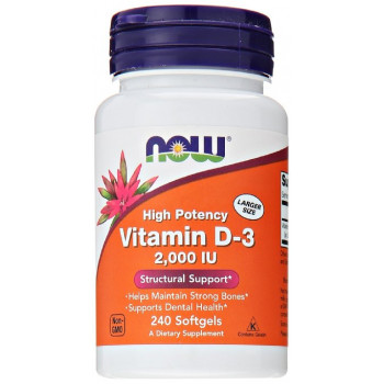 Now Vitamin D-3 2000 IU 120 капсул