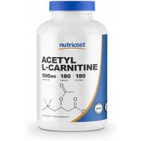 Nutricost USA Acetyl L-Carnitine 500 mg 180 капсул