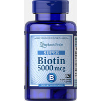 Puritan's Pride Biotin 5000 mcg 60 капсул