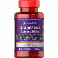 Puritan's Pride Grapeseed Extract 200 mg 120 капсул (Виноградные косточки)