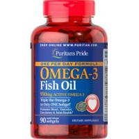 Puritan's Pride One Per Day Omega-3 Fish Oil 1360 mg (950 mg Omega-3) 90 Softgels