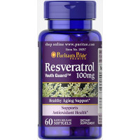 Puritan's Pride Resveratrol 100 mg 60 Softgels