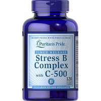 Puritan's Pride Stress Vitamin B-Complex with Vitamin C-500 60 капсул
