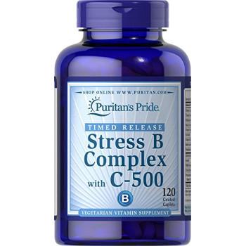 Puritan's Pride Stress Vitamin B-Complex with Vitamin C-500 60 капсул