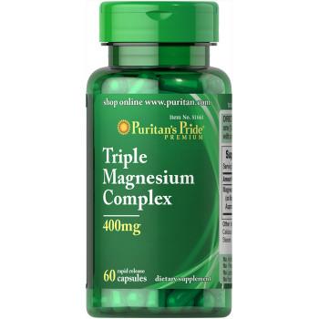 Puritan's Pride Triple Magnesium Complex 400 mg 60 капсул