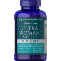Puritan's Pride Ultra Woman™ 50 Plus Multi-Vitamin 60 таблеток