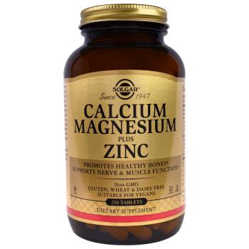 Solgar Calcium Magnesium Plus Zinc 250 таблеток