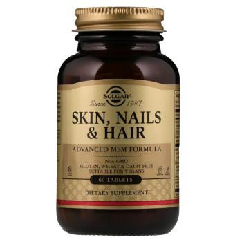 Solgar Skin, Nails Hair & Advanced MSM Formula 60 таблеток