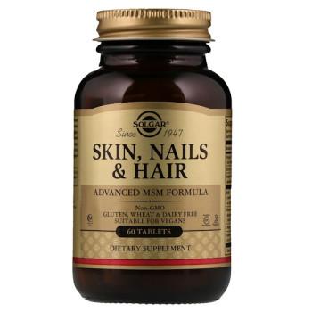 Solgar Skin, Nails Hair & Advanced MSM Formula 120 таблеток