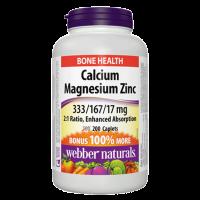 Webber Naturals Calcium Magnesium Zinc 333/167/17 mg 200 таблеток