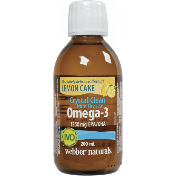 Webber Naturals Crystal Clean from the Sea® Omega-3 1250 mg EPA/DHA 200 мл. Lemon Cake