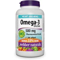 Webber Naturals Omega-3 500 mg EPA/DHA 200 softgels